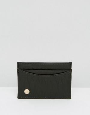 Черный кошелек для карт с узором под змеиную кожу Mi-Pac. Цвет: черный