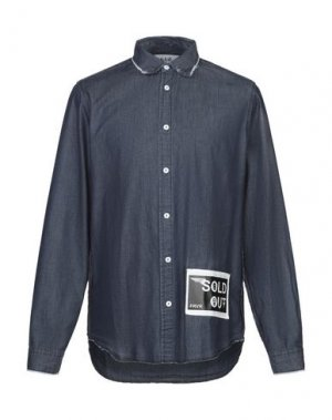 Джинсовая рубашка SOLD OUT FRVR. Цвет: синий