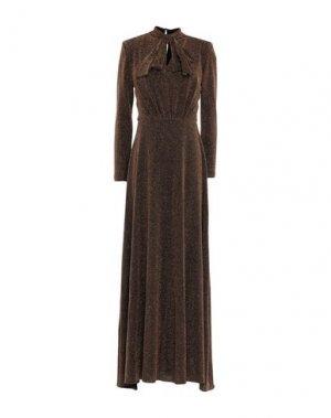 Длинное платье TOY G.. Цвет: золотистый