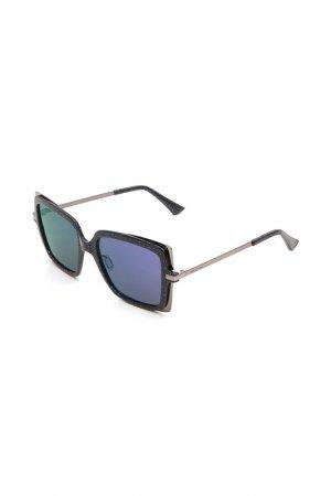 Очки солнцезащитные с линзами Italia Independent. Цвет: glt 021 серый, серый металлик