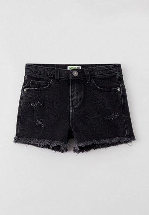 Шорты джинсовые Sela. Цвет: черный