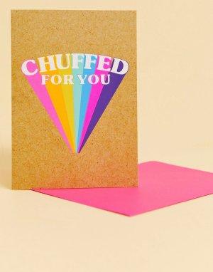 Открытка chuffed for you -Мульти Bettie Confetti