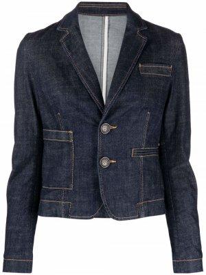 Джинсовая куртка с заостренными лацканами Dsquared2. Цвет: синий