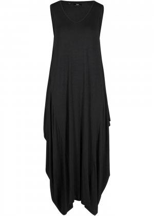 Платье трикотажное bonprix. Цвет: черный