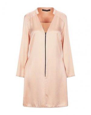 Короткое платье FRANCESCA PICCINI. Цвет: лососево-розовый