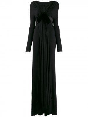 Присборенное платье 1990-х годов с бантом Gianfranco Ferré Pre-Owned. Цвет: черный