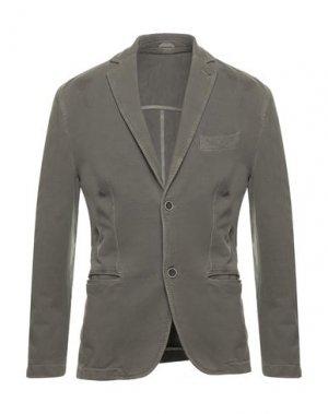 Пиджак TESSABIT. Цвет: зеленый-милитари