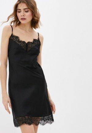 Сорочка ночная Argent. Цвет: черный
