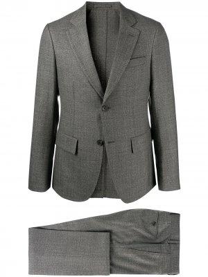 Строгий костюм с однобортным пиджаком Salvatore Ferragamo. Цвет: серый