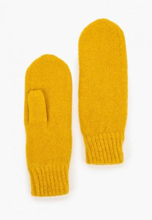 Варежки Pieces. Цвет: желтый