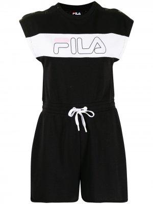 Комбинезон Liberty с логотипом Fila. Цвет: черный