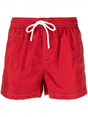 Плавки-шорты с кулиской Kiton. Цвет: красный
