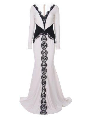 Вечернее платье с кружевом RHEA COSTA