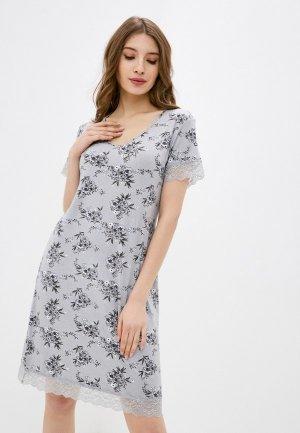 Платье домашнее Deseo. Цвет: серый