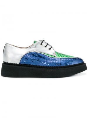 Sequin lace-up shoes Nº21. Цвет: синий