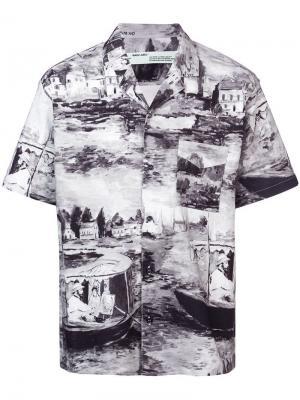 Рубашка с принтом Off-White. Цвет: черный