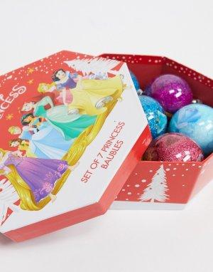 Набор из 7 елочных шаров «Принцессы» Christmas-Мульти Disney