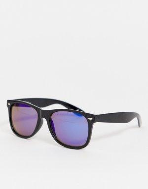 Очки в квадратной пластиковой оправе -Черный Jeepers Peepers