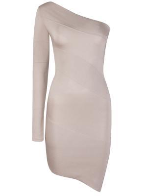 Шелковое платье ANTONIO BERARDI. Цвет: серый