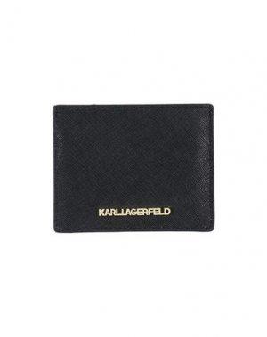 Чехол для документов KARL LAGERFELD. Цвет: черный