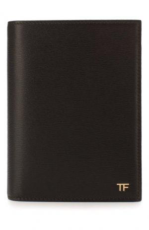 Кожаная обложка для паспорта Tom Ford. Цвет: коричневый