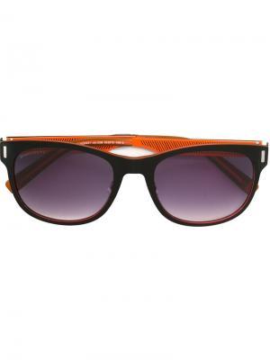 Солнцезащитные очки с геометрической оправой Alf Dsquared2. Цвет: чёрный