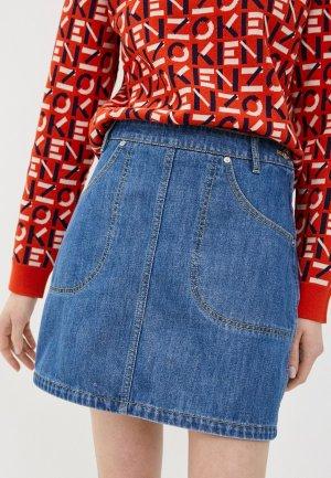 Юбка джинсовая Kenzo. Цвет: синий