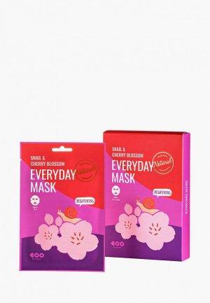 Набор масок для лица Dearboo 10х27 мл. Цвет: белый