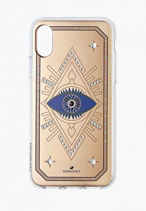 Чехол для iPhone Swarovski® TAROT EYE. Цвет: золотой