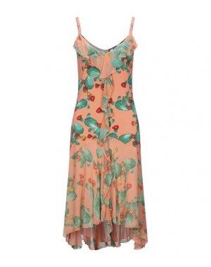 Платье до колена ANGELO MARANI. Цвет: коралловый