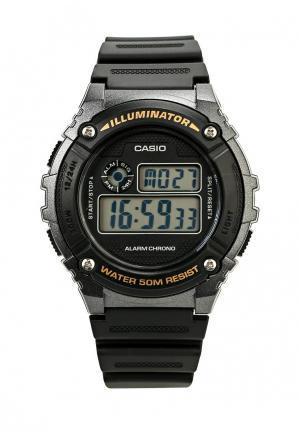 Часы Casio Collection W-216H-1B. Цвет: черный