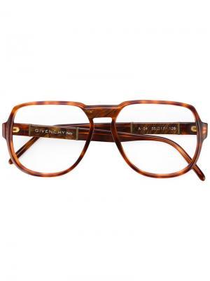 Очки в черепаховой оправе Givenchy Vintage. Цвет: коричневый