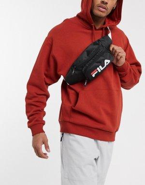 Черная сумка-кошелек на пояс с логотипом ремешке Tanna-Черный Fila