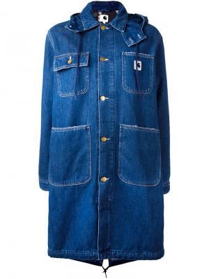Джинсовая куртка Jennie Carhartt. Цвет: синий