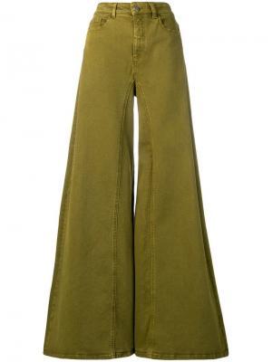 Расклешенные джинсы с завышенной талией Alberta Ferretti
