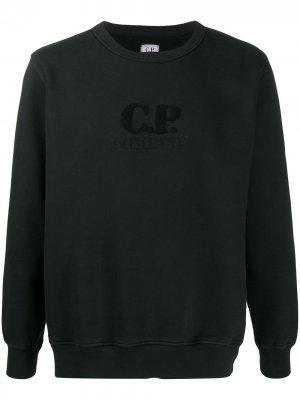 Толстовка из джерси с логотипом CP Company. Цвет: черный