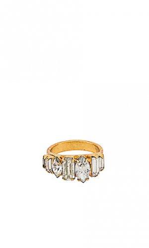 Кольцо ramsey Elizabeth Cole. Цвет: металлический золотой