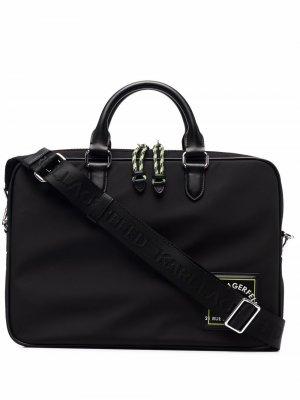 Сумка для ноутбука RSG с нашивкой Karl Lagerfeld. Цвет: черный