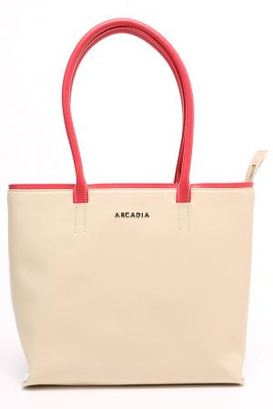 Сумка Arcadia. Цвет: бежевый, розовый