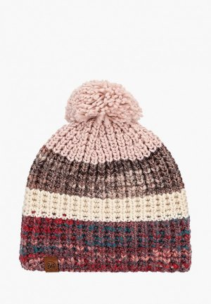 Шапка Buff Knitted&Polar Hat Alina. Цвет: бордовый