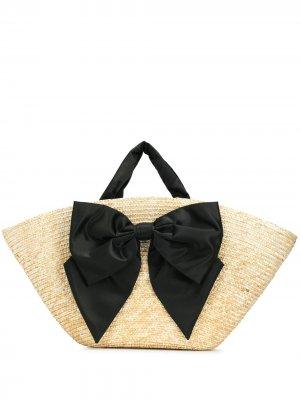 Соломенная пляжная сумка Carlotta Eugenia Kim. Цвет: желтый