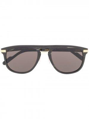 Солнцезащитные очки Cartier Eyewear. Цвет: черный