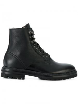 Ботинки на шнуровке Fabi. Цвет: черный
