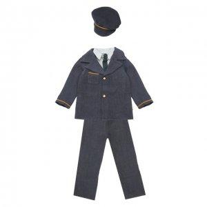 Игрушечный костюм пилота для папы Джинджер Maileg. Цвет: синий
