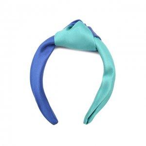 Ободок для волос Eugenia Kim. Цвет: синий