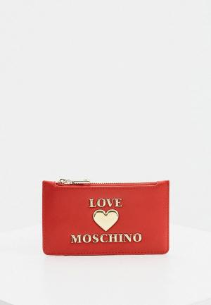 Кредитница Love Moschino. Цвет: красный