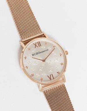 Часы с фактурным браслетом BCBG Generation-Золотистый MaxAzria