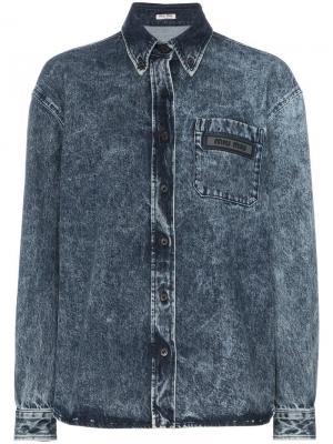 Джинсовая куртка с выцветшим эффектом Miu. Цвет: f0008 bleu