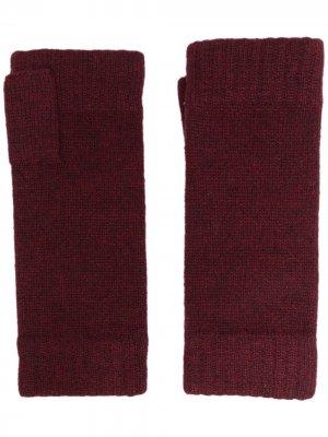 Кашемировые перчатки-митенки N.Peal. Цвет: красный