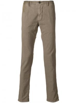 Классические брюки-чинос Incotex. Цвет: нейтральные цвета